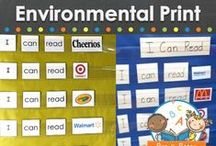 ENVIRONMENTAL PRINT / Environmental Print learning activities, ideas, printables and resources for your preschool, pre-k, or kindergarten classroom. Emergent literacy activities using signs and logos to help prepare young children to read! Visit me at www.pre-kpages.com for more inspiration for early education! / by Vanessa @pre-kpages.com