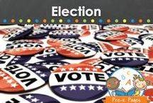 ELECTION DAY / Election day ideas for preschool, pre-k, and kindergarten. Voting ideas and more! Visit me at www.pre-kpages.com for more inspiration for early education! / by Vanessa @pre-kpages.com