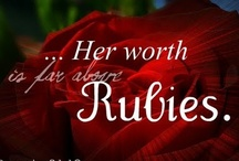 Ruby Red / From The Ruby's Worth... http://www.Facebook.com/rubysworth  The Ruby's Worth is a year-long journey through the scriptures of Proverbs 31, celebrating the strong, free-willed, creative and sometimes overwhelmed spirit of today's woman. From the single working girl to the full-time mom, this page was created to inspire, uplift and encourage through the Word.