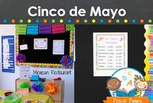 CINCO DE MAYO / Cinco de mayo learning activities, resources, printables, and ideas for your preschool, pre-k, and kindergarten classroom. Snacks, decorations, crafts, book lists, dramatic play and more! Visit me at www.pre-kpages.com for more inspiration for early education! / by Vanessa @pre-kpages.com