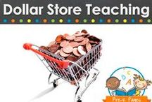DOLLAR STORE TEACHING / Dollar store learning activities, teaching ideas and resources for your pre-k, preschool, or kindergarten classroom. How to shop for and use common items from the dollar store to create fun learning activities, organize your classroom and more! Visit me at www.pre-kpages.com for more inspiration for early education! / by Vanessa @pre-kpages.com