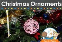 CHRISTMAS ORNAMENTS / A collection of Christmas Ornaments for young children in preschool, pre-k, or kindergarten to make. Homemade ornament ideas for kids. Easy and creative ornaments using popsicle sticks, pipe cleaners, beads and much more! / by Vanessa @pre-kpages.com