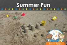 SUMMER FUN / Fun activities and ideas to keep your kids learning, laughing and playing all summer long! / by Vanessa @pre-kpages.com
