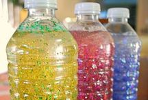 DISCOVERY BOTTLES / Discovery bottle ideas, pictures, and recipes for your preschool, pre-k, or kindergarten classroom. Calming bottles, fireworks, tornado, sensory, I-Spy bottles and more!  / by Vanessa @pre-kpages.com