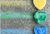 CHALK IDEAS FOR KIDS / Chalk learning activities, games, and play ideas for kids at home or in the classroom for learning, art, and fun! Chalk paint, chalkboards, homemade chalk recipes and more! / by Vanessa @pre-kpages.com