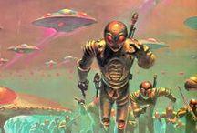 Retrofuturismo/Atompunk/Space age/Cold war/Retro sci-fi / by Heliel Sena