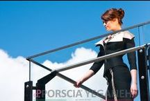 """Backstage Luxury Niche Beauty! / In beautiful Coal Harbour, my vacation home away from Italy, we did a fabulous photoshoot with the help of the sun bring out the true colors of my garments. """"#PorsciaYeganeh® ---"""
