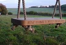Swings ♥ Schaukeln / Do you remember the freedom you felt as a child when swinging towards the sky?   ♥   Erinnerst Du Dich an die Freiheit, welche Du als Kind gefühlt hast, als Du gen Himmel geschaukelt bist?