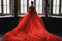 ~R E D~ / Red dresses