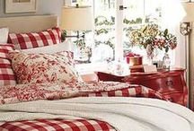 Red Room Ideas / Inspirational ideas for the home using eclectic accessories and vibrant patterns.