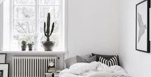White Room Ideas / Bright ideas for how to design your living room, bedroom, bathroom and every other room in your house.