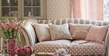 Shabby Chic Interiors / Love the shabby chic look? An eclectic style that mixes antique furniture with pastel colours, lace and feminine florals.