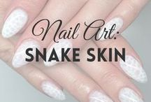 Nail Art: Snake Skin | MW / All about SNAKE SKIN NAILS (more on MyWonderland blog & You Tube channel).