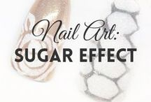 Nail Art: Sugar Effect | MW / All about SUGAR EFFECT NAILS (more on MyWonderland blog & You Tube channel).