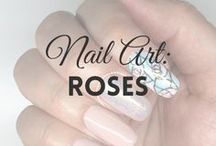 Nail Art: Roses | MW / All about ROSES NAIL ART (more on MyWonderland blog & You Tube channel).