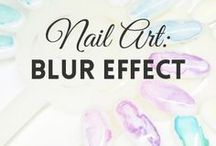Nail Art: Blur Effect | MW / All about BLUR EFFECT NAILS (more on MyWonderland blog & You Tube channel).