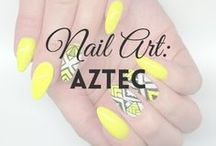 Nail Art: Aztec | MW / All about AZTEC NAILS (more on MyWonderland blog & You Tube channel).