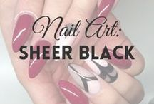 Nail Art: Sheer Black | MW / All about SHEER BLACK NAILS (more on MyWonderland blog & You Tube channel).