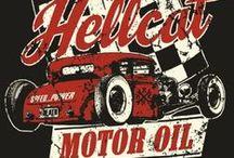 Custom and hot rod car art
