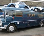 Classic service car and race transporters