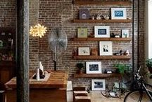 Brick Wall Interiors / If you're lucky enough to have a home that includes a beautiful exposed brick wall, these home decorating ideas with exposed brick walls will make you want to redecorate!