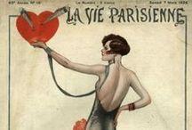 Vintage La Vie Parisienne magazine covers / by Catherine Last Name