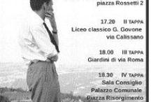 Alba - Maratona Fenogliana / 14 Settembre 2014 Enrico Mentana ha presentato e condotto la Maratona Fenogliana ricordando Beppe Fenoglio, presente la figlia Margherita Fenoglio. Durante le 4 tappe per la casa, il liceo, le piazze, il Palazzo comunale siamo stati accompagnati dal gruppo musicale della Cricca dij Mes-cià.
