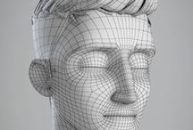 3d Models, Bust Sculptures,3d heads, 3d printed models,Blender open 3d