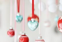 Christmas Cheer / In red and aqua/turquoise