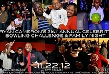 RC's Celebrity Bowling Challenge / Before RCF existed there was the Annual Celebrity Bowling Challenge. This is Atlanta's premiere Thanksgiving night go-to event.  21 years ago, Ryan Cameron created this FUNDRAISER to support his community.  For the past 10 years, it has exclusively supported RCF's lead program the Leadership Academy.  This year has an exciting venue, live broadcast, food, bumper cars, and arcade games. Corporate, celebrity, friends, and family bowling teams will be competing for bragging rights & trophies!