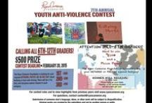 Youth Anti-Violence Initiatives / Every year, RCF hosts a Youth Anti Violence Contest, Seminar, and Forum providing hundreds of children, teens, and parents with opportunities to express their thoughts and opinions on Anti-Violence.    Students and parents participate in workshops and panel discussions on Teen Safe Driving, Bullying/Cyberbullying, Domestiv Violence, Gang Violence, Child Sex Trafficking, and Teen Dating Violence.