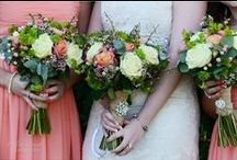 Coral Wedding Bouquets by Peamore Flora / Wedding Flowers coral