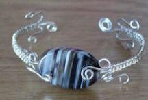 My handmade jewelry - Mes bijoux faits à la main / Yes, I love crafts, especially needlepoint and jewelry.   Eh oui! j'adore l'artisanat, surtout le petit-point et les bijoux.