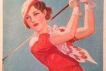 Golf / Tableaux photos de golfeurs golfeuses
