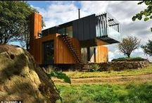 Homes Containers Ideas - Only the best. / Creative and ecologically correct ideas for turning containers into homes. Ideias criativas e ecologicamente corretas para transformar containers em moradias.