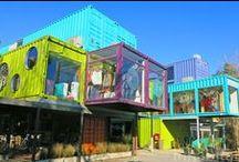 Shops Containers - Ideas to open business / Good ideas for setting up a company using container. Boas ideias para montar uma empresa usando container marítimo.