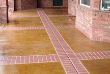 """Brick Designs / Beautiful and classic. Brick patterns engraved in concrete offer a paver-like design but the stones don't come loose or allow weeds to grow through the """"grout lines"""". All the beauty without the work. NICE,"""
