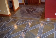 Interiors / Decorative concrete flooring is a good choice for reducing allergens, easy cleanup and its pet friendly.
