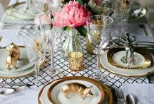 Wedding Tablescape Ideas  / stylish & tasteful tablescapes & tables decor for wedding celebrations