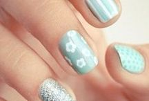 Light blue nails / Light blue nails, uñas color celeste
