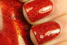 Red Nails / Red nail art -  Uñas color rojo