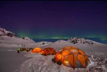 Iceland Base camp January 2014 / We had these customers staying with us at this custom made Base camp