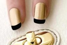 Golden Nails / #Golden #Nails imagenes de #uñas color #dorado u #oro #gold
