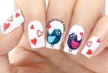 Love Nails / #Love #Nails #ValentinDay Valentin Day #amor #uñas Love nails, uñas romanticas, dia de los enamorados, dia de san valentin.