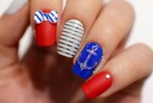 Nautical Nails / Nautical Nails, uñas náuticas, uñas de verano, summer nails