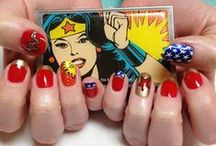 SuperHeros Nails / SuperHeros, nailart, batman, superman, wonder woman, mujer maravilla, spiderman, captain america, capitan america, decoracion de uñas