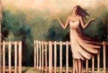Featured Artist: Laura Bowman / mixed media by Laura Bowman McNeil 404-273-7236