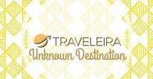 Unknown Destinations / Board that includes pins about destinations not so explored by many travelers.