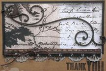 My cards and tags / Cards, tags, and ATCs made via paper crafting.