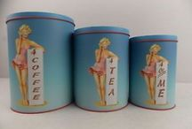 Vintage canisters / by Diane Yacopino
